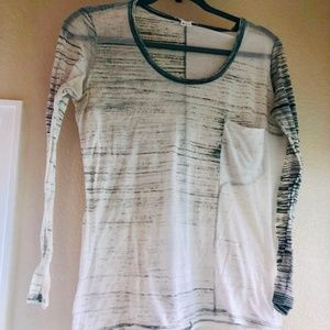 Helmut Lang Sheer Long Sleeved Tee